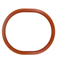 """20 1/8"""" x 16 1/2"""" ID Red Silicone Manway Gasket"""