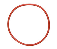 "14 1/8"" ID Red Natural Rubber Manway Gasket"