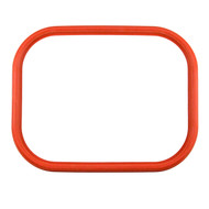 "16 1/2"" X 12 1/2"" ID Red Silicone Manway Gasket"