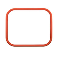 "20 1/4"" X 16 3/4"" ID Red Silicone Manway Gasket"