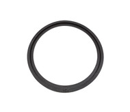 "19 1/2"" ID Round Black Neoprene Manway Gasket with Alignment Bead"
