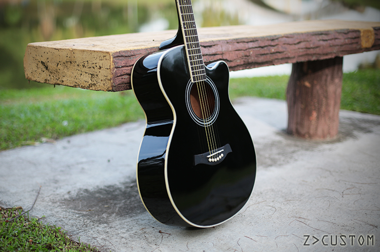 Z Custom Zc Om601 Bk Sv Guitars