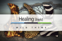 Healing Shield Acoustic Guitar Pickguard - Wild Theme