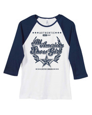 All American Showgirl Raglan