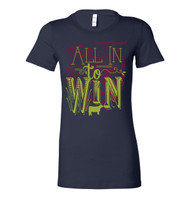 All In To Win Navy Fitted Tee