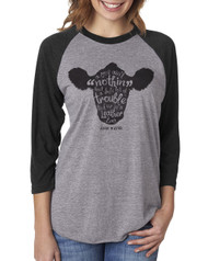 Cow Trouble Raglan