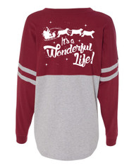 It's a Wonderful Life Longsleeve Pom Pom Tee