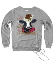 Mooey Christmas Side-Tie Sweatshirt