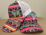 Leopard Serape Snapback Hat