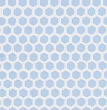 Blue Small Hex Vinyl Dollhouse Tile Floor