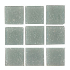 Dollhouse Grey Glass Mosaic Tile Sheet