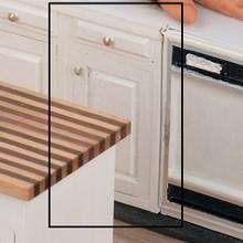 """Dollhouse Kitchen Furniture 1.5"""" Base Kit Unfinished"""
