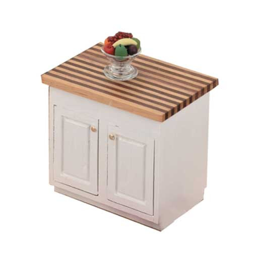 Kitchen Center Island Kit Unfinished Wood Victorian Dollhouse