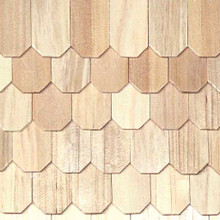 Dollhouse Shingles Octagon Butt Shingle100pc/pkg