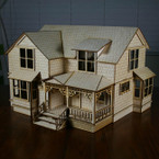 "Crockett Victorian Dollhouse Kit 1/2"" Scale"