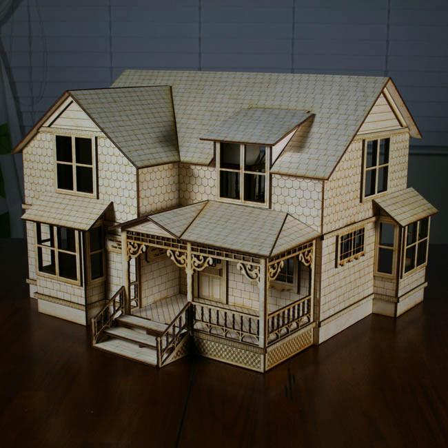 Crockett Victorian Dollhouse Kit 1 2 Scale Wood Victorian Dollhouse