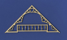 Victorian Dollhouse Heart Gable
