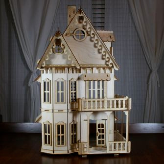 Gothic Victorian Doll House Kit Wood Victorian Dollhouse