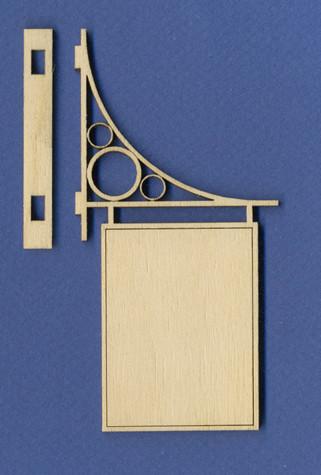 Miniature Dollhouse Hanging Sign Ii Wood Victorian Dollhouse