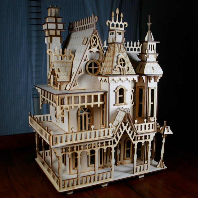Victorian Doll House Kit Wood Victorian Dollhouse