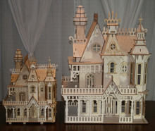Comparison View of the new Victorian Dollhouse LCC-DH-002 compared to the NEW LCC-DH-003