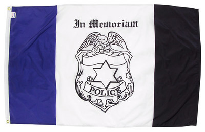 3'x5' Nylon Police Mourning Flag