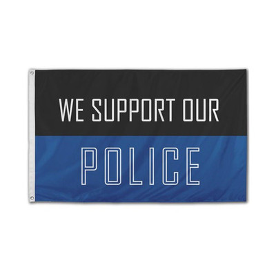 Nylon We Support Our Police Flag