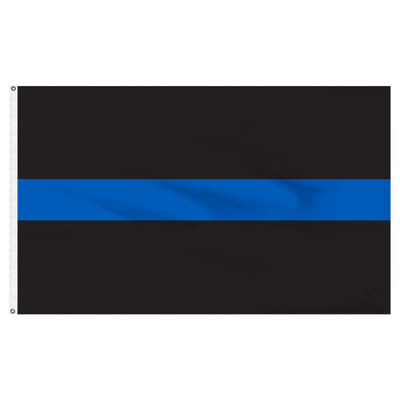 3x5 Foot Nylon Thin Blue Line Flag