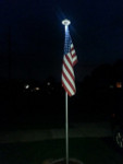 U.S. Flag & Solar Light Flagpole Set