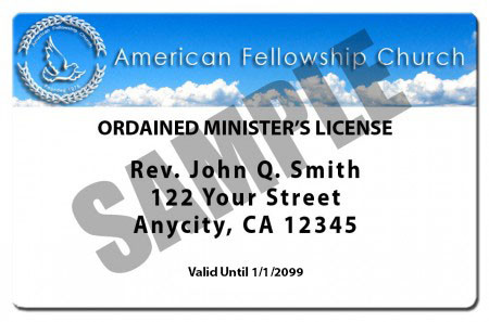 LOUELLA: Become a legally ordained minister online