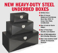24 X 24 X 60 UNDERBODY BOX, HEAVY DUTY, BLACK