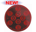 "LED 4"" ROUND SEALED RED STOP/TURN/TAIL, 10 DIODE"