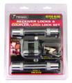 "TRIMAX (2) T3s-5/8"" Reciever & TMC10 3/4""Span Coupler Lock,Flat keys"