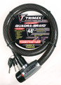"""TRIMAFLEX INTEGRATED KEYED CABLE LOCK 48"""" (L) X 25MM"""