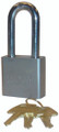 """TRIMAX Sq. Hardened 50MM Solid Steel Padlock w/ 2.25"""" x 10MM Dia. Shackle (re-keyable)"""