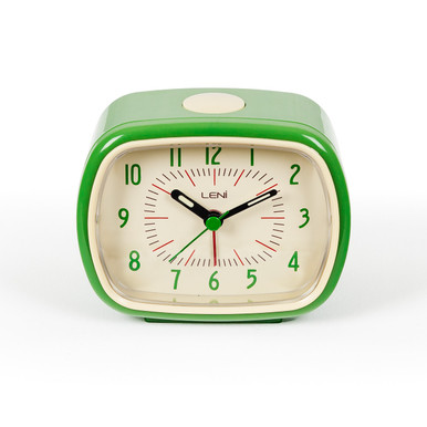 Retro Alarm Clock Green | Buy Funky Bedside Clock