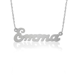 Small Script Nameplate Necklace