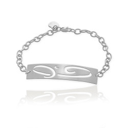 Large Initial ID Bracelet