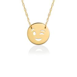 Gold JBD377 Wink Emoji