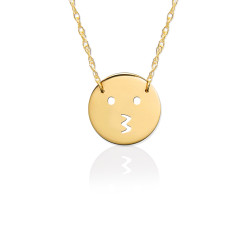 Gold JBD361 Kiss Emoji