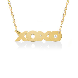 XOXO Pendant w Diamond Accent