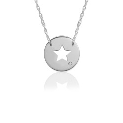 "1/2"" Star Disc Icon w Diamond Accent"
