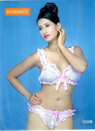 Stunning white matching bra and panties