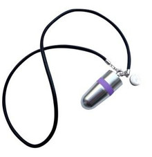 The Discreet Silver Bullet Necklace Vibrator, Exclusive on www.masalatoys.com