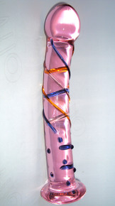 Better than Diamonds, Pink Deluxe Swril Diamond Glass Dildo, Exclusive on www.masalatoys.com