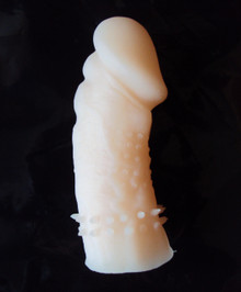 Soft Thick Silicone Wolftooth Penis Sleeve Pink, Exclusive on www.masalatoys.com