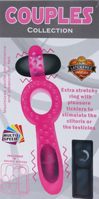 Couples Collection Powerful Double Vibrating Cockring, Exclusive on www.masalatoys.com