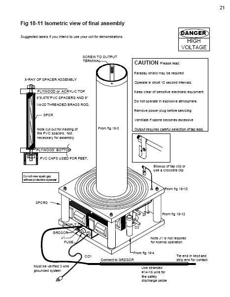 500 000 volt medium power table top tesla coil  paper plans