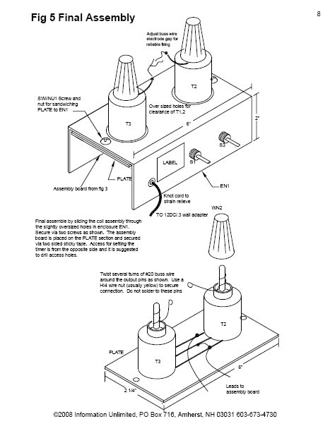 mini tesla lightning machine  paper plans