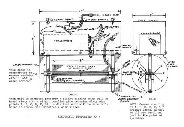 electronic air purifier  paper plans